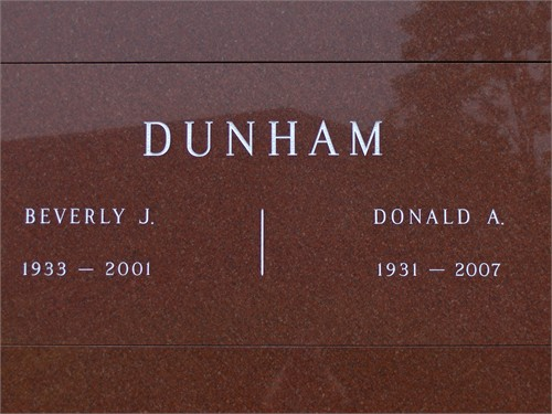Beverly and Donald Dunham